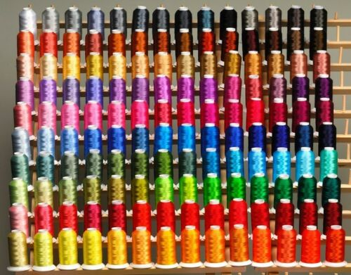 SUPER 185 CONES POLY MACHINE EMBROIDERY THREADS RACK for Brother