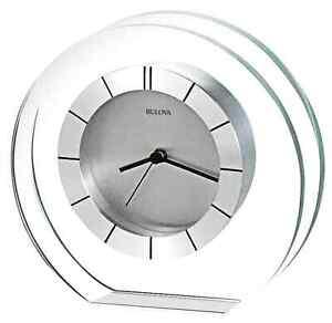 Delicieux Image Is Loading Svelte Glass Table Clock Modern Tabletop Office Desk