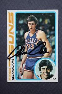 Phoenix Suns star Alvan Adams signed/autograph 1978-79 Topps basketball card!