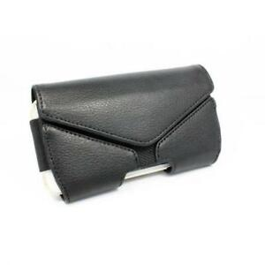 BLACK-LEATHER-CASE-COVER-PROTECTIVE-POUCH-HOLSTER-BELT-CLIP-O8K-for-SMARTPHONES