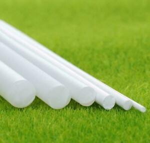 10pcs ABS Styrene Plastic Round Bar Rod Dia 4mm Length 9.8 250mm White