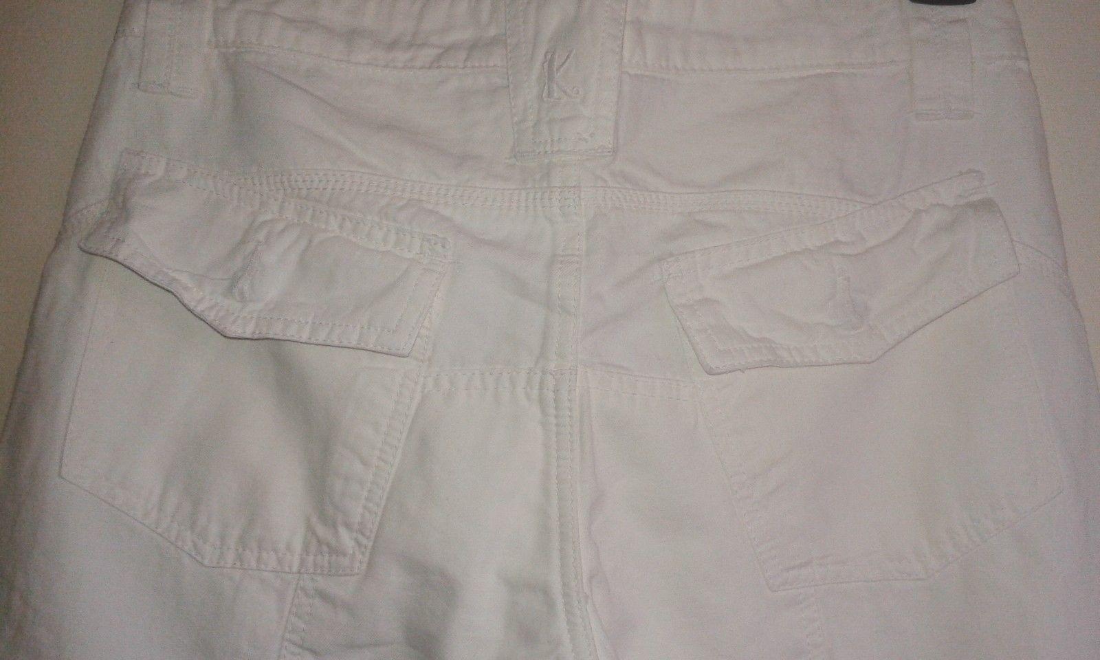 KENZO Paris Cotton Cotton Cotton Linen Blend Casual Trousers Pants Weiß   W30 L33 e79ea2