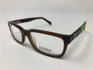 948f589c744 Guess GU 9147 GU9147 dark brown 050 Eyeglasses Frames 49 16 130 Flex ...