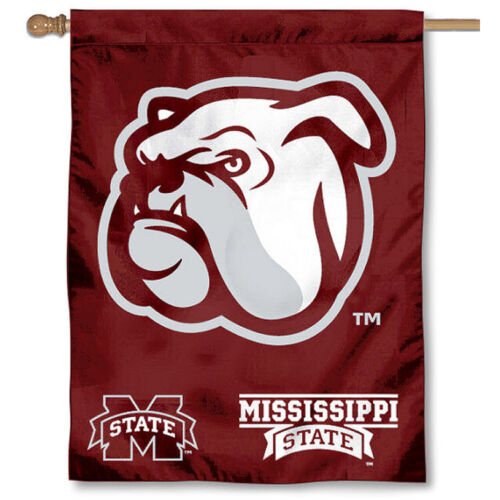 Mississippi State Bulldogs MSU University College House Flag