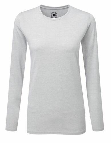 Femmes manches longues t-shirt us de russell
