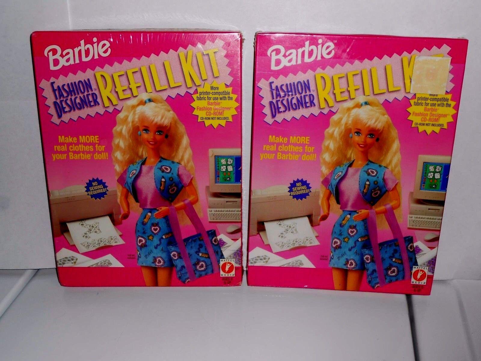 2 Mint In Box Vintage 1996 Barbie Fashion Designer Refill Kits Nos For Sale Online Ebay