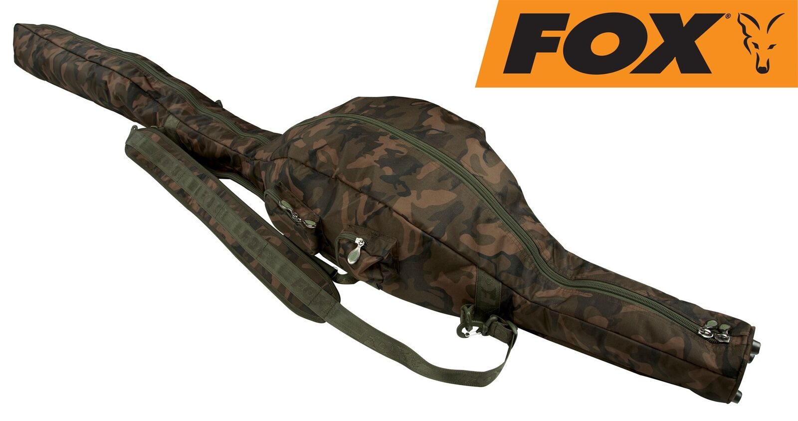 Fox Camolite Tri Tri Tri Sleeve 12ft Rutentasche, Rutenfutteral für Karpfenruten b05119