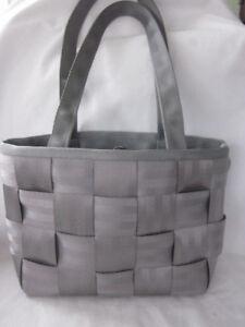 8eec80dbb722 Image is loading Authentic-Harveys-Original-Seatbelt-Handbag-Purse -GRAY-Woven-