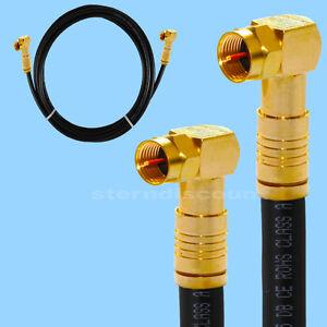 kupfer 135 db satelliten kabel premium qualit t schwarz winkel f stecker hdtv 4k ebay. Black Bedroom Furniture Sets. Home Design Ideas