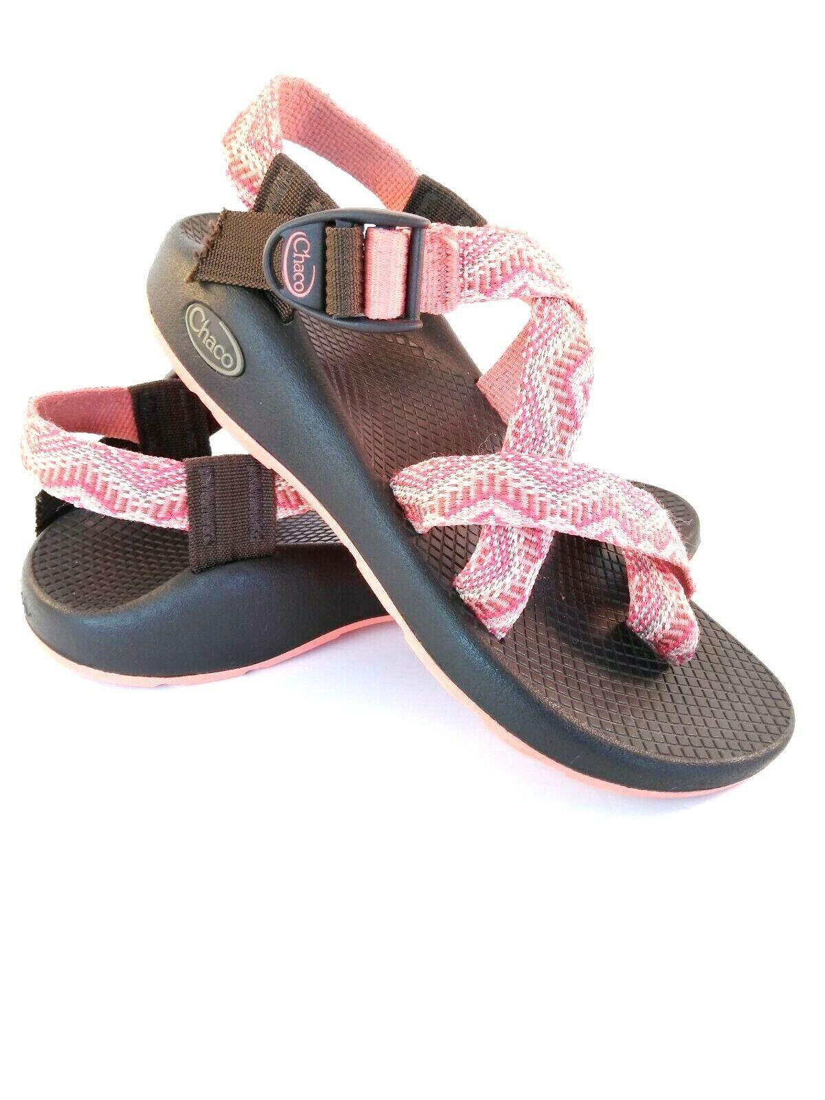 Chaco donna Sz 6 Peach Marronee Aztec Toe Loop Outdoor Hiking Water Sports Sandals