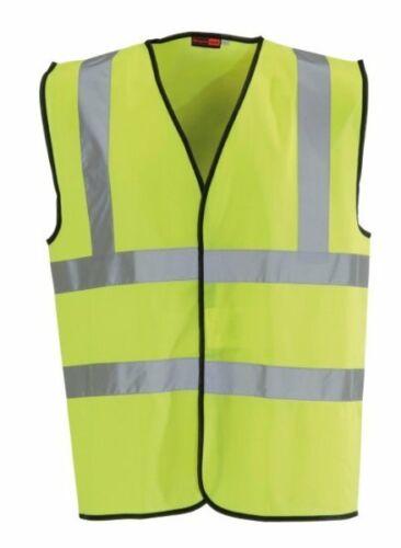 Blackrock Hi High Vis Viz Visibility Vest Yellow Orange Waistcoat en471 Class 2