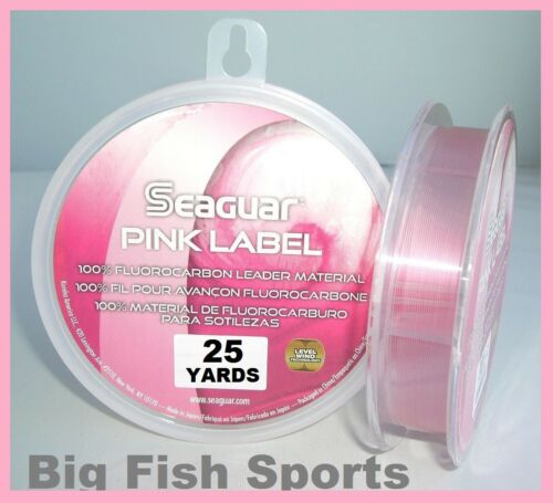 environ 22.86 m SEAGUAR Pink Label Fluorocarbone Chef 25 Yd Yards Choisissez votre taille Free USA NAVIRE!