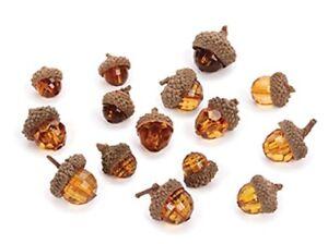 15 Acorns Like Jewels real acorn Caps TAble confetti crafts filler weddings fall