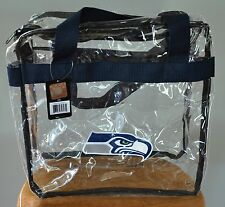 Seattle Seahawks CLEAR Messenger Tote Bag Purse - Meets Stadium Security Reqs