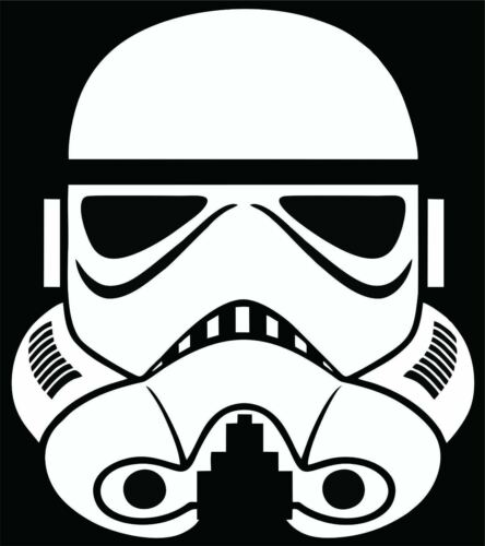 Stormtrooper Sticker Decal Choose Size /& Color Star Wars Empire Force Sith