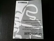 Yamaha WR 250 F WR250R P 2001 Owner's Manual Service Wartungs Fahrer-Handbuch