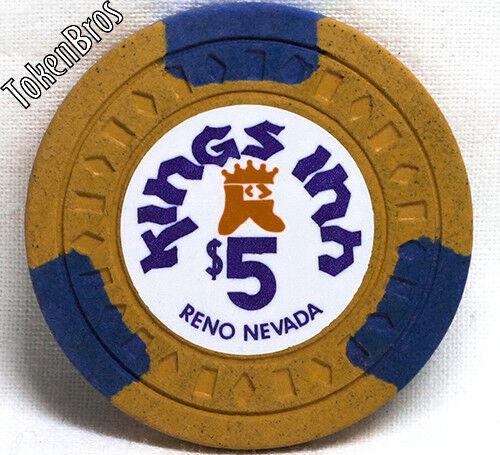 $5 FIVE DOLLAR POKER GAMING CHIP KINGS INN HOTEL CASINO RENO NEVADA 1975-1982