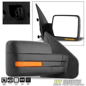 2007-2014 Ford F150 Power+Heated+L<wbr/>ED Signal+Puddle View Mirror Right Passenger