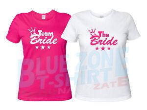 075d024bf8fef7 Caricamento dell'immagine in corso Team-Bride-The-Bride-Magliette -Addio-al-Nubilato-