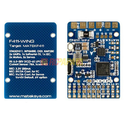 Matek Systems Flight Controller FC F411-WING Build-in OSD FPV RC DIY Build INAV