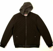 Levis Bomber Jacket New BLACK SIZE LARGE Quilted W/Hood Levi's NWT