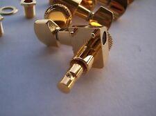 GENUINE FENDER SCHALLER GOLD Locking Guitar TUNERS Strat Tele  DIRECT 2 PIN FIT