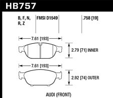 Hawk HB757N.758 Brake Pad
