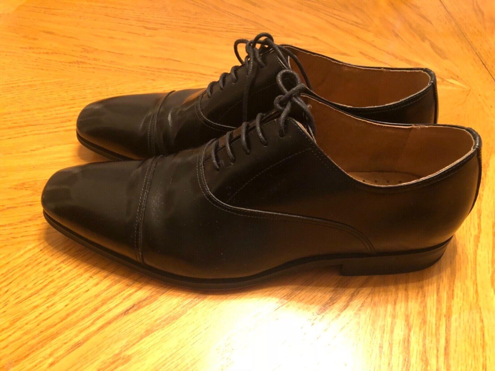 Florsheim Black Leather Oxfords Captoe Size 11.5D