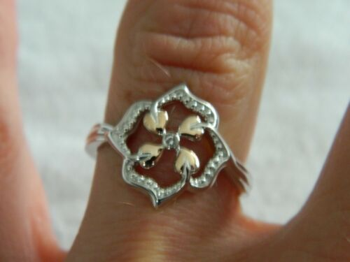 Details about  /Clogau Silver /& 9ct Rose Gold Tree of Life Topaz Flower Ring size L N or S M