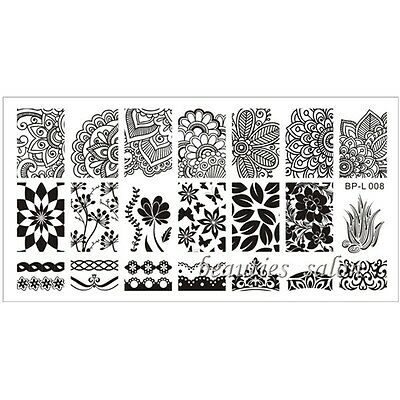 BP01-35 &L001-L008 Nail Art Stamp Template Image Stamping Plate Manicure Stencil