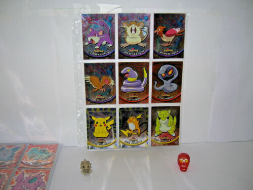 pokemon topps metal-chrome-holo-foil carte//card pikachu//raichu//dracaufeu//newtwo