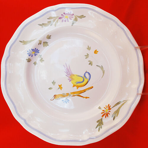 "PEROUGES by Longchamp made in France NEW NEVER USED Dinner Plate 10.2"" diameter"