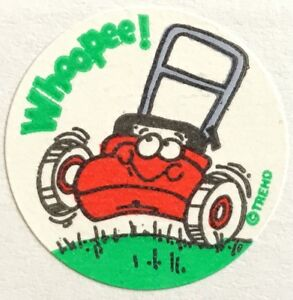 Vintage Scratch Sniff Sticker 80s Old Shoe Trend Matte TM
