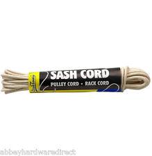 4mm Natural Waxed Cotton Rope Rack Lining SASH Cord Bag Handle Pulley - 12.5m