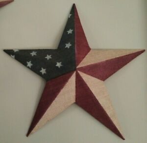 12 Patrotic OLD Glory American Flag Barn Star July of 4th Decoration