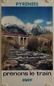 Distingué Affiche Tourisme Sncf Prenons Le Train 1973 Pyrenees