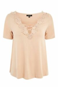 Topshop-Floral-Nude-Swing-Top-Size-12-New-with-Tags-19-00-T-Shirt
