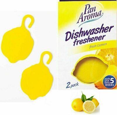 Pan Aroma 2 in 1 Pack Dishwasher Freshener Fresh Lemon Scent Lemon Shape