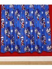 """Sonic The Hedgehog Sprint Themed Cartoon Animated Blue Curtain Set 54""""d x 66""""w"""