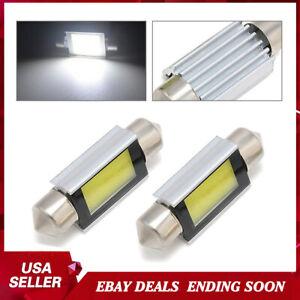 2X-Super-White-Xenon-36mm-Car-COB-LED-License-Plate-Light-6418-C5W-4W-Bulb-12V