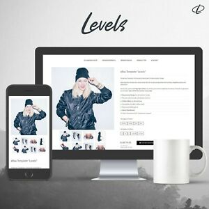 LEVELS-BLACK-Template-2020-RESPONSIVE-Auktionsvorlage-Ebayvorlage-Vorlage-HTML