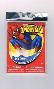 500-x-Marvel-Spiderman-Temporary-Tattoos-150-sheets-Bulk-Kids-Party-Favour