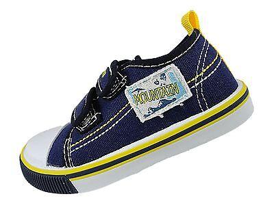 Boys Childs Summer Canvas Pump Trainer Shoe Plimsolls Navy Grey Khaki