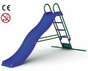 Scivolo-a-Onda-Blu-150x285x168-cm-Blu-Con-Scaletta-Metallo-Portata-50-KG