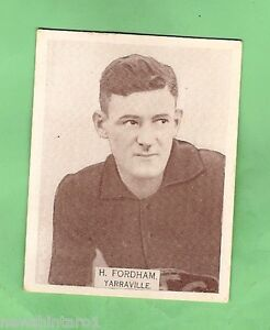LARGE-SIZE-1933-VFL-WILLS-CIGARETTE-CARD-41-H-FORDHAM-YARRAVILLE