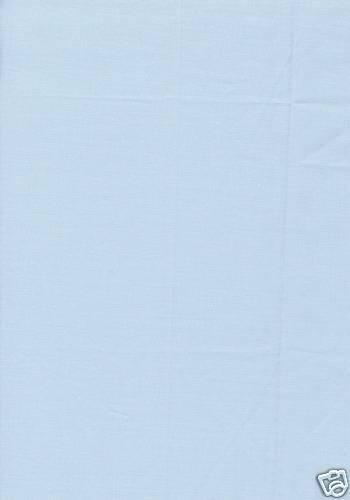 50cm x 55cm Sky Blue Cotton Quilting Fabric Fat Quarter