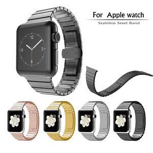 Stainless-Steel-Butterfly-Lock-Link-Bracelet-Watch-Band-Strap-for-Apple-Watch