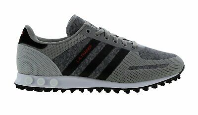 Original Mens Adidas LA Trainer Grey Black Trainers BB7397   eBay