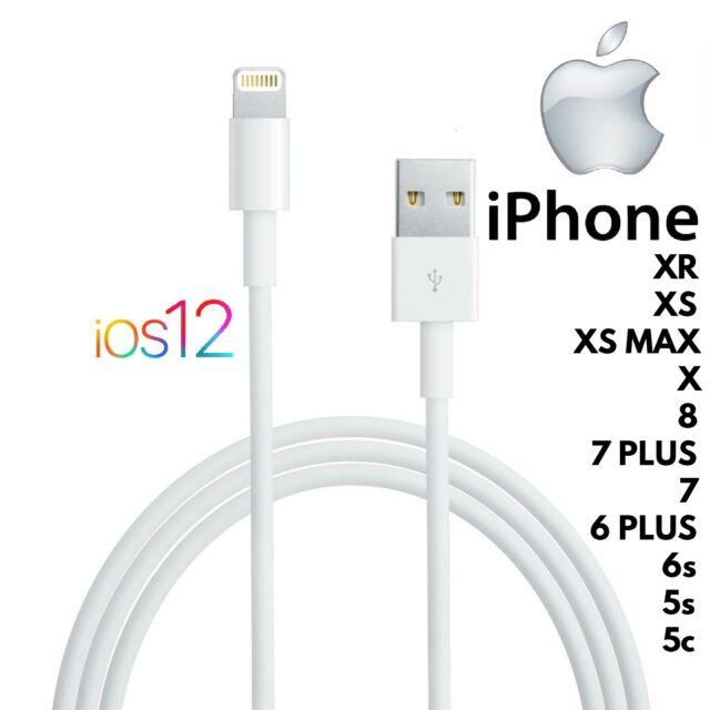 CAVO LIGHTNING PER APPLE IPHONE XR/XS/MAX/X/PLUS/8/7/6/6s/5/5s/4/IPAD USB 8 PIN