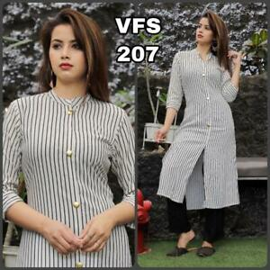 Bollywood-Launched-India-Pakistan-Wear-Indo-Western-Shirt-Theme-Top-Tunic-Dress